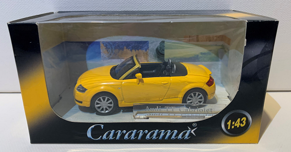 AUDI TT - žlutý model Cararama 1:43