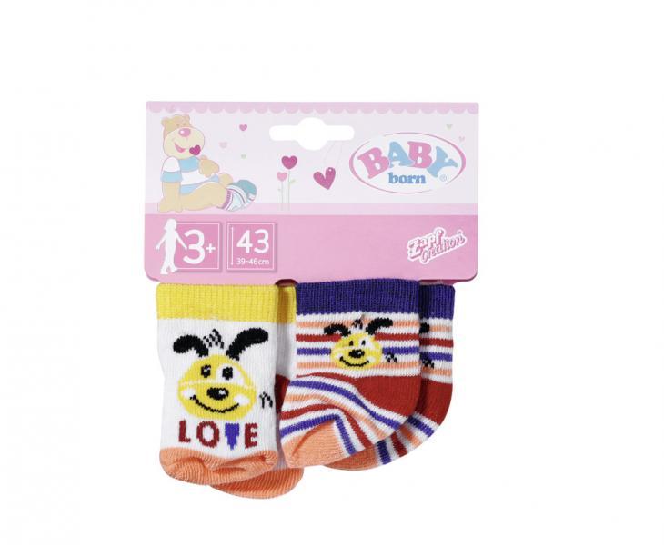 BABY born Ponožky (2 páry), 2 druhy, 43 cm