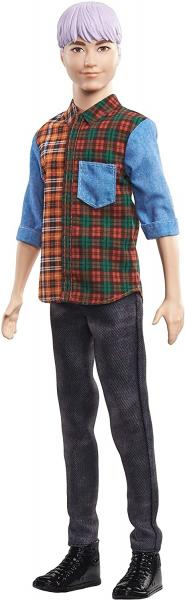 Barbie Model Ken fialové vlasy