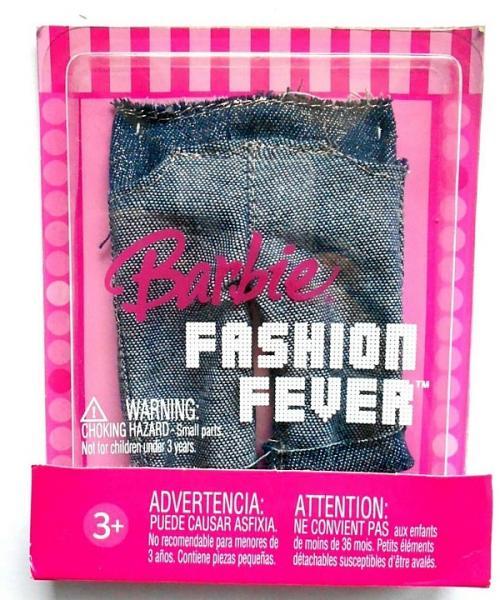 Barbie oblečení pro panenku kraťasy - jeansy Fashion