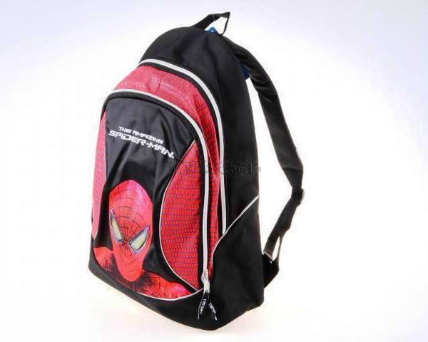 Batoh Spiderman  černo/červený