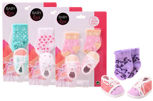 Botičky + ponožky pro panenky Baby Rose