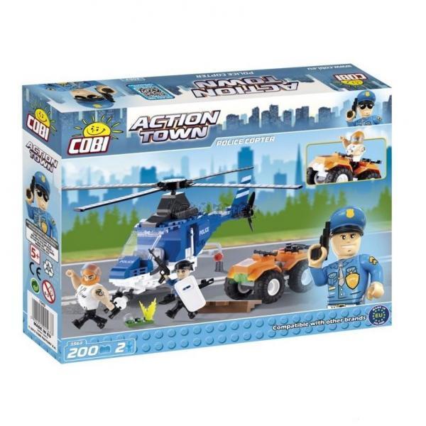 COBI 1563 Action Town Police - Policejní Helikoptéra