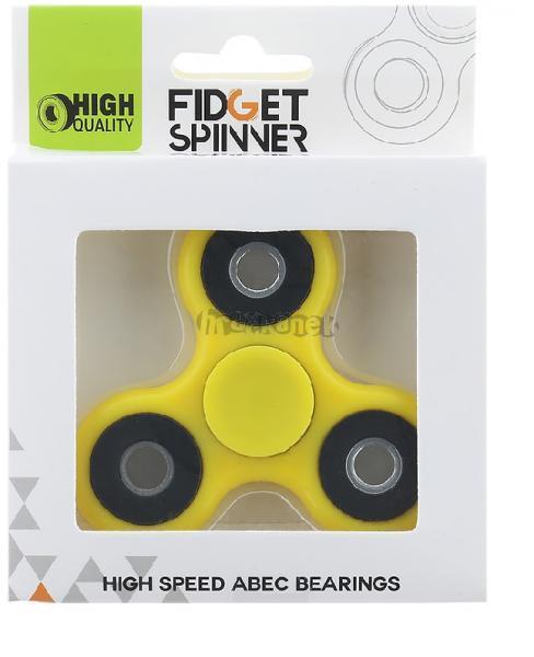 Fidget Spinner kovový 7 cm žlutý