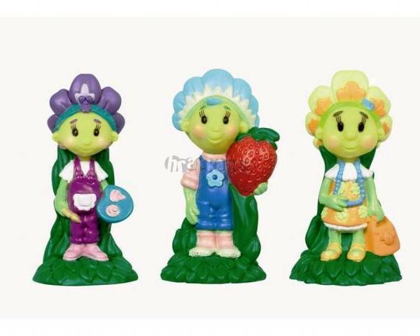 Figurky FIFI, VIOLKA a PRVOSENKA z Květíkova