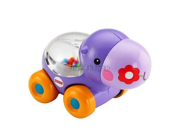 Mattel Fisher Price jezdící hrošík s kuličkami