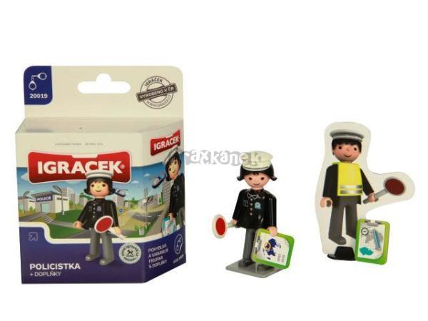 IGRÁČEK - Policistka + doplňky mini