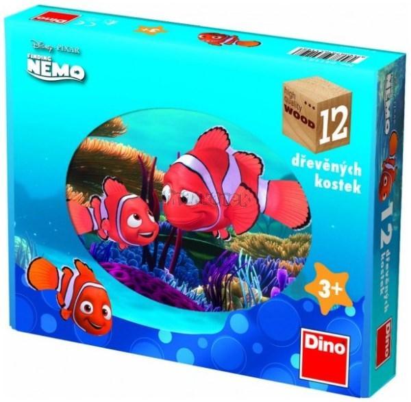 Kubus 12 dřevěných kostek Nemo
