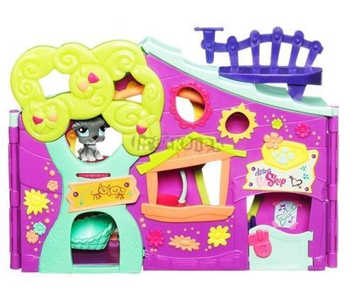 LPS Domeček ve tvaru stromečku - CLUB HOUSE - hrací set - Littlest Pet Shop od HASBRO 94619
