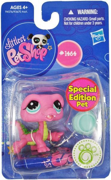 LPS DRAK #1464 - speciální kolekce - Littlest Pet Shop - HASBRO - Pink crocodile