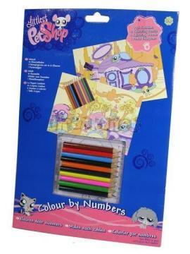 LPS Malování podle čísel - Littlest Pet Shop od Hasbro