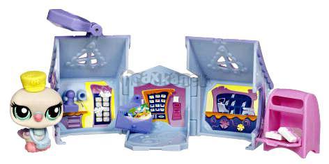 LPS s domečkem - HOLOUBEK - poštovní úřad - Littlest Pet Shop - Hasbro