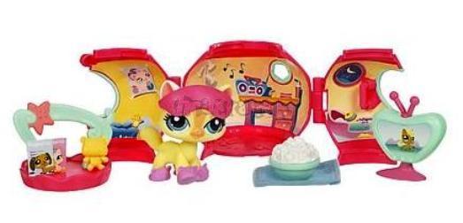 LPS s domečkem - KOČKA - vše pro spánek - Littlest Pet Shop - Hasbro