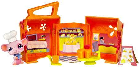 LPS s domečkem - MYŠKA - sýrové pohoštění - Littlest Pet Shop - Hasbro