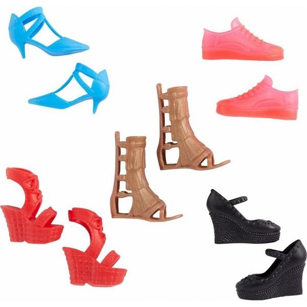 Mattel Barbie kolekce botek červené boty