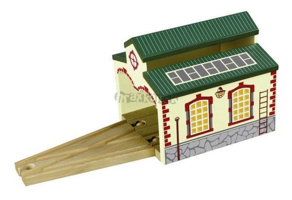 Maxim Depo pro dvě lokomotivy dřevěné mašinky