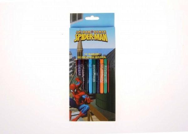 Pastelky Spiderman 12ks