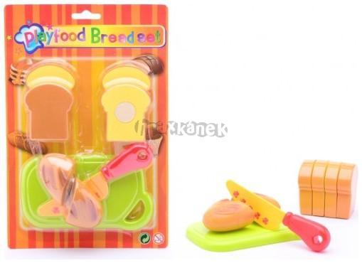 Plastové jídlo na hraní - chlebíčky 8 ks