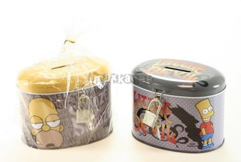 Pokladnička kovová Simpsonovi