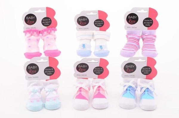Ponožky pro panenky 40-45 cm vysoké
