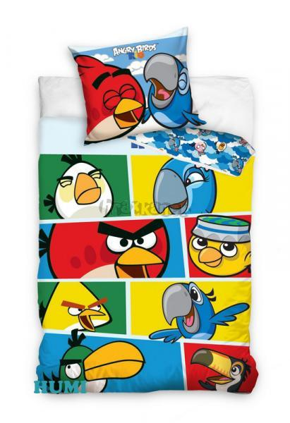 Carbotex Povlečení Angry Birds Rio kostky bavlna 140x200 70x80