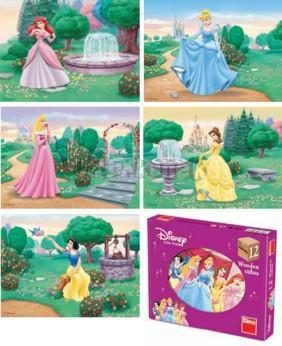 Princezny Kubus 12 dřevěných kostek
