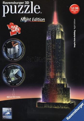 Puzzle 3D Empire State Building - Noční edice 216 dílků