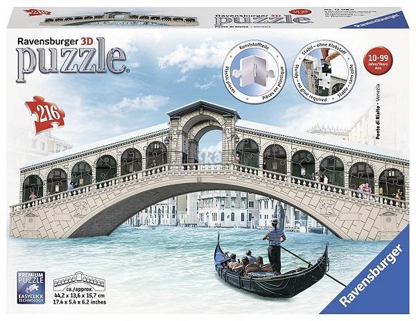 Ravensburger Rialto most, Benátky 216 dílků 3D