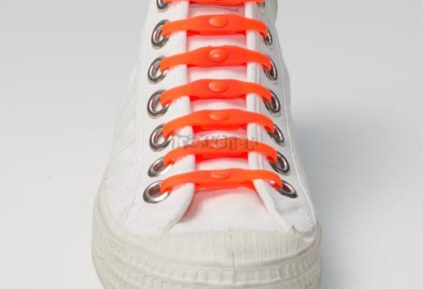 SHOEPS - Silikonové tkaničky orange dutch
