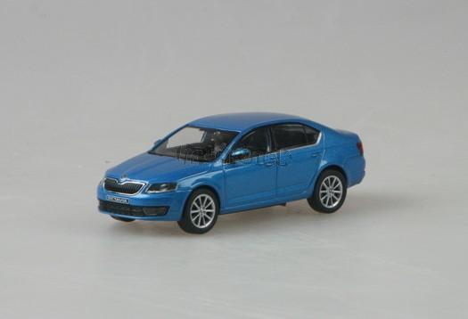 Škoda Octavia III Denim Blue Metallic 1:43 model ABREX