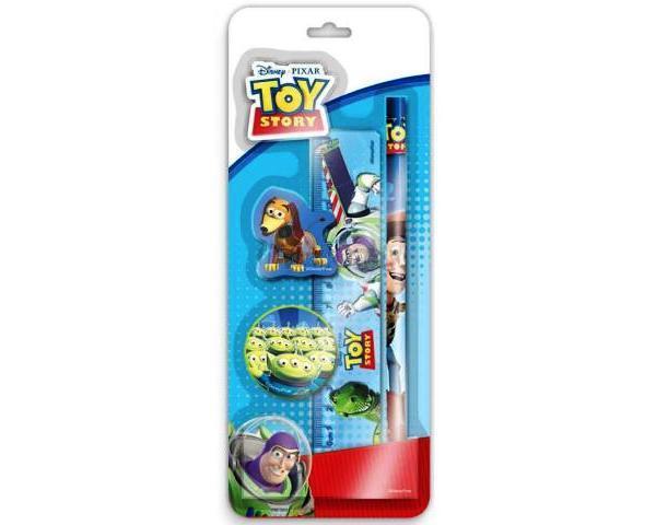 Soubor s motivem Toy Story - tužka, guma, pravítko, ořezávátko