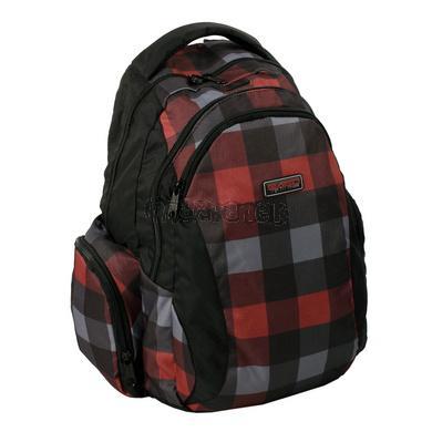 Studentský batoh NEW WAVE červená kostka
