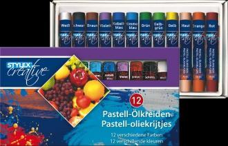STYLEX Olejové křídy pastelové 12ks