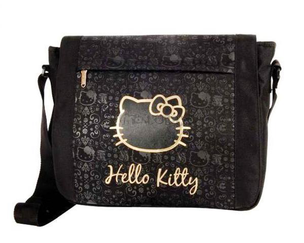 Taška přes rameno Hello Kitty černo/zlatá