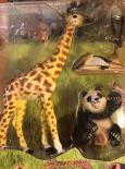 Exotická ručně malovaná zvířata - set