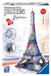 Puzzle 3D Eiffelova věž Vlajková edice 216 dílků