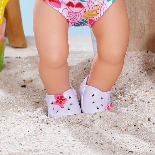 Zapf Creation BABY born Gumové sandálky fialové 43 cm