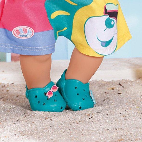 Zapf Creation BABY born Gumové sandálky zelené 43 cm
