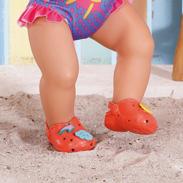 Zapf Creation BABY born Gumové sandálky červené 43 cm