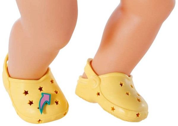 Zapf Creation BABY born Gumové sandálky žluté 43 cm